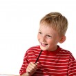 Happy little boy with pencil — Stock Photo #3578852