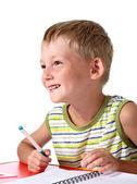 Happy little school boy — Stock Photo