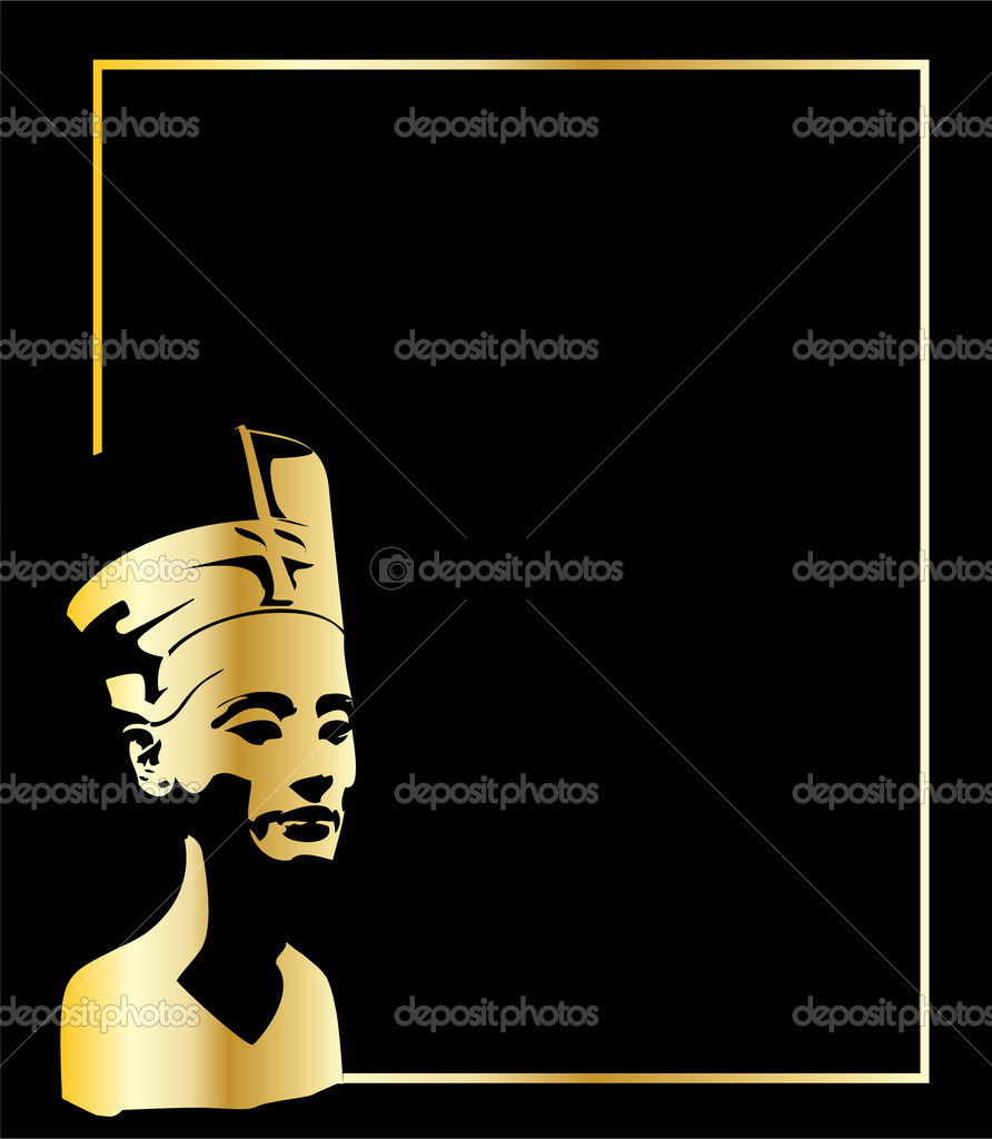 The gold vector head of Nefertiti eps 8 — Stock Vector #3284276