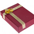 Red present box — Foto de Stock