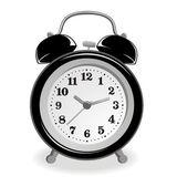 Relógio despertador-preto — Vetor de Stock