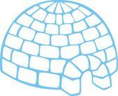 Simple igloo — Stock Vector