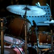 Drum kit on eve concert — Stock Photo