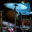 Drum kit on eve concert - Stock Photo