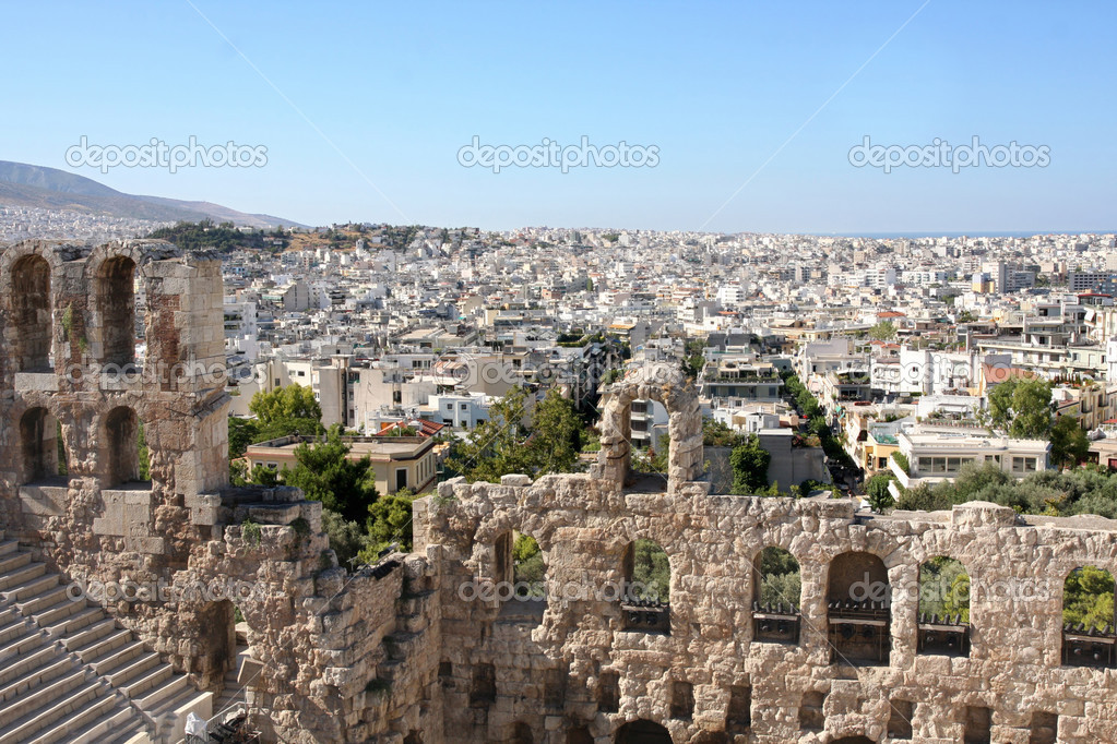 Details of acropolis theater, Acropolis in Athens  — Stock Photo #2743863