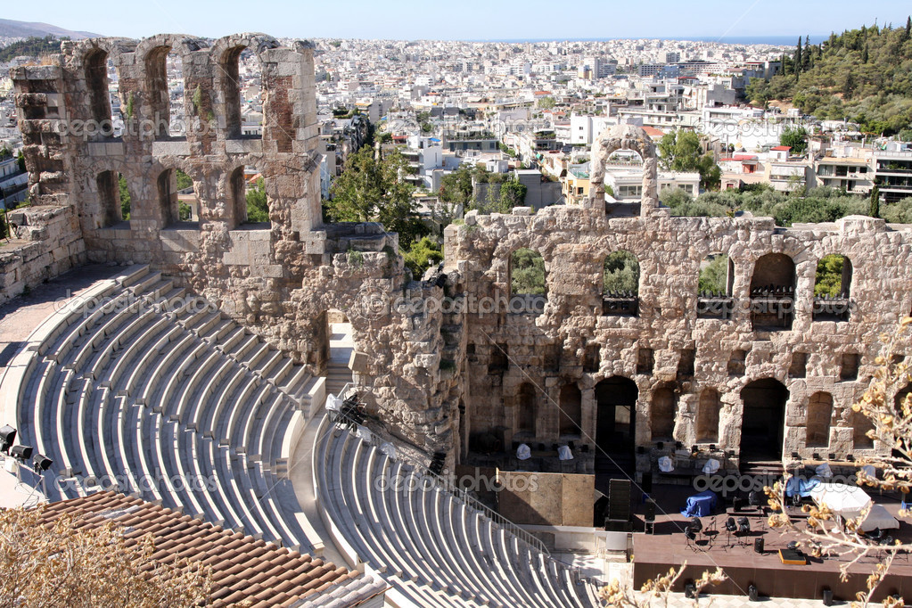 Details of acropolis theater, Acropolis in Athens  — Stock Photo #2743869
