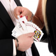 Magician make performance — Stock Photo