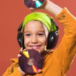 Active, activity, audio, beauty, beautiful, CD, cheerful, child, — Stock Photo #3616244