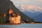 The Chillon castle in Montreux (Vaud),Switzerland — Zdjęcie stockowe