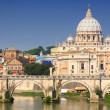Vatican City from Ponte Umberto I in Rome, Italy — Photo