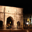 Arco de Constantino and Colosseum in Rome, Italy - Stock Photo