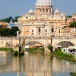 Stock Photo: VaticCity from Ponte Umberto I in Rome, Italy