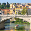 Ponte Vittorio Emanuele II in Rome, Italy - Stock Photo
