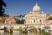 梵蒂冈城从庞翁贝托我在罗马,意大利 — 图库照片