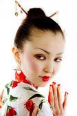 Portrait of geisha — Stock Photo