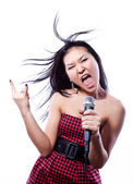 The girl which sings — Stock Photo