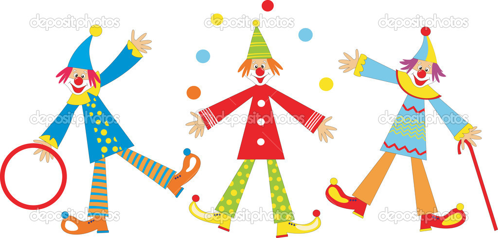 Cute funny clown juggling. Illustration — Stock Vector #2704544