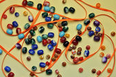 Color beads for needlework — Stock Photo