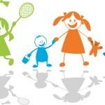 快乐玩 children.sport — 图库矢量图片
