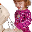 Little girl with mixer - Stock Photo