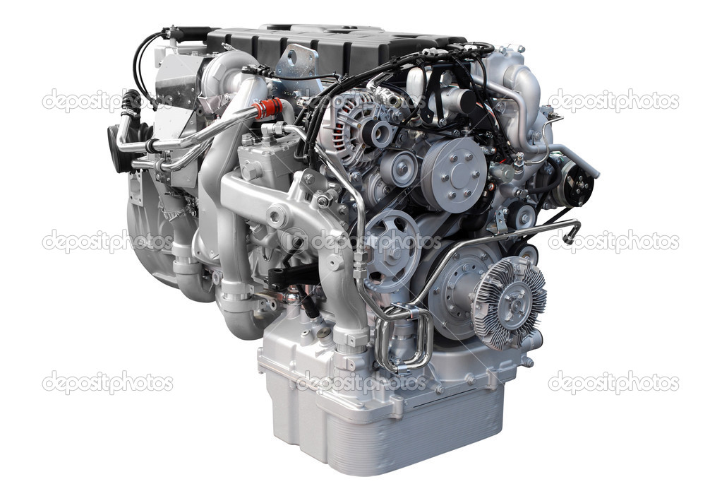 Heavy truck engine isolated — Stock Photo #2814276