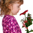 Beauty little girl with flower — Stock Photo #2872677