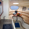 New luxury yacht interior — Stock Photo