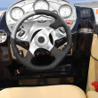 Yacht steering wheel — Stock Photo