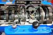 Truck automatic transmission gearshift c — Stock Photo