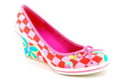 Woman summer colorful shoe — Stock Photo