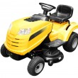 Yellow lawn mower isolated - Stock Photo