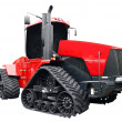 Big red caterpillar tractor isolated — Stock Photo #3248191