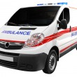 Ambulance car isolated - Foto Stock