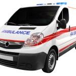 Ambulance car isolated — Stock Photo