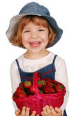Menina com bambolê — Foto Stock