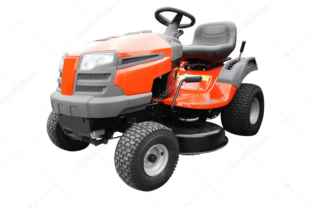 Lawn mower isolated on white  Stok fotoraf #3335764