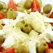 Greek salad close detail — Stock Photo