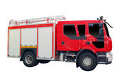 Fire truck isolated on white background — Stock Photo