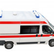 Ambulance emergency car top perspective — Stock Photo