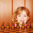 Royalty-Free Stock Photo: Little girl and chess