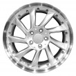 Car racing aluminum wheel isolated — Stockfoto
