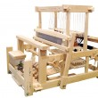 Wooden loom isolated — Stock Photo