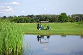 Golf electric buggy — Стоковое фото