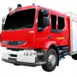Fire truck front view isolated - Stock Photo