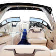 Luxury fast boat interior - Stock Photo