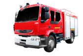 Fire truck front view isolated — Stock Photo
