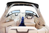 Luxury fast boat interior — Stock Photo