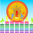 Music and dancers — Stock Vector