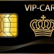 VIP Card with a golden crown - Stock Photo