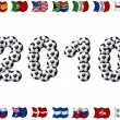 2010 - Soccer and Nation Flags — Stock Photo #2922028